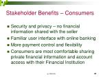 stakeholder benefits consumers