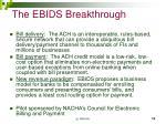 the ebids breakthrough