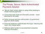 the private secure bank authenticated payments solution
