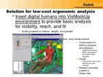 solution for low cost ergonomic analysis