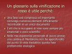 un glossario sulla vinificazione in rosso utile perch