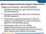 medical imaging community support opportunities