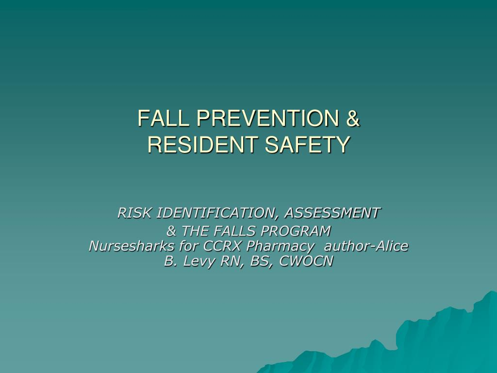 fall prevention resident safety l.