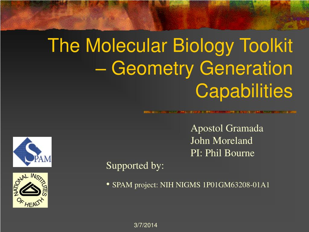 the molecular biology toolkit geometry generation capabilities l.