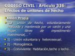 c digo civil art culo 326 efectos de uniones de hecho