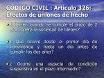 c digo civil art culo 326 efectos de uniones de hecho17