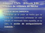 c digo civil art culo 326 efectos de uniones de hecho32
