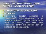 pleno jurisdiccioinal 1998 prueba uni n de hecho