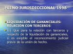 pleno jurisdiccional 1998