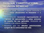 tribunal constitucional la uni n de hecho11