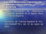 tribunal registral inscripci n de bien de convivientes requisitos