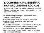 5 conferencias ense ar dar argumentos l gicos