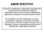 amor efectivo