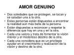 amor genuino