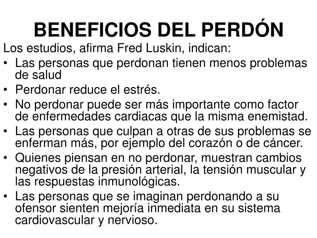 BENEFICIOS DEL PERDÓN