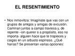 el resentimiento38