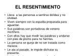 el resentimiento41