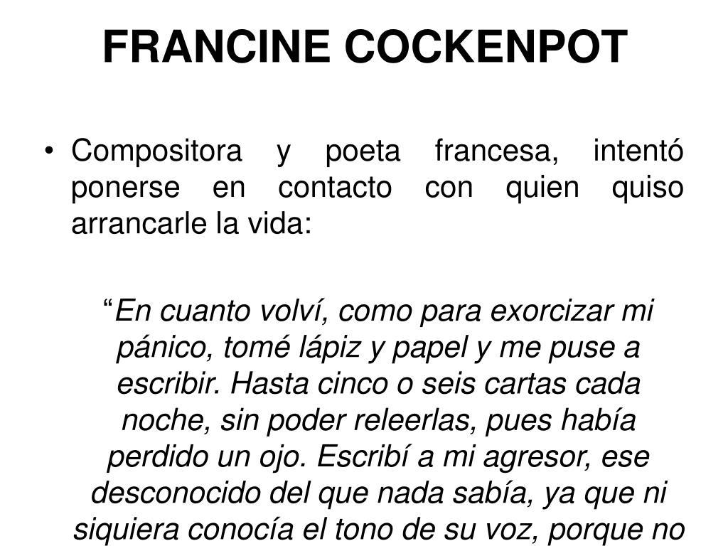 FRANCINE COCKENPOT