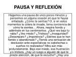 pausa y reflexi n