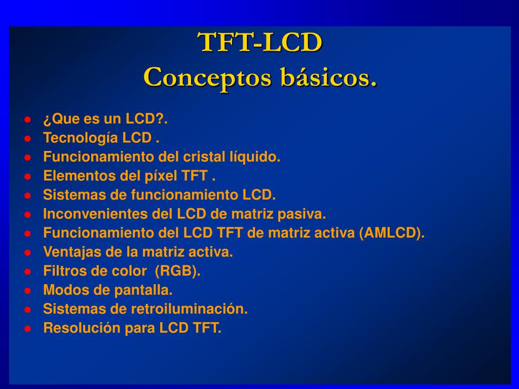 tft lcd conceptos b sicos l.