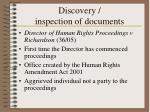 discovery inspection of documents
