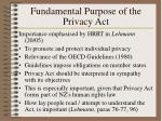 fundamental purpose of the privacy act