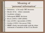 meaning of personal information