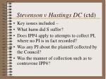 stevenson v hastings dc ctd