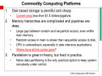 commodity computing platforms