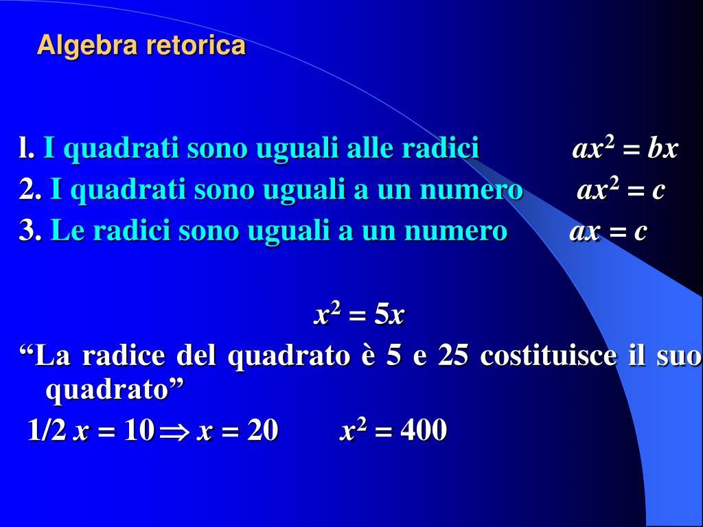 Algebra retorica