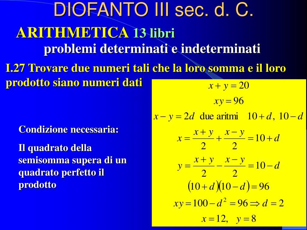 DIOFANTO III sec. d. C.