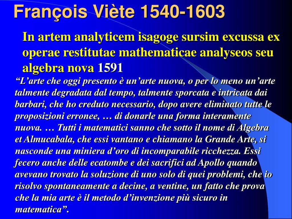 François Viète 1540-1603