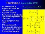 problema 1 tavoletta bm 13901