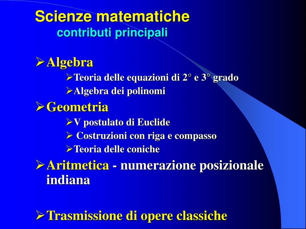 Scienze matematiche