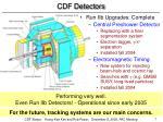 cdf detectors
