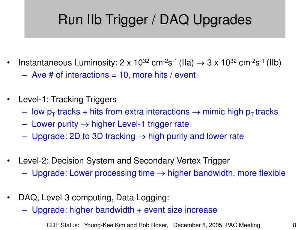 Run IIb Trigger / DAQ Upgrades