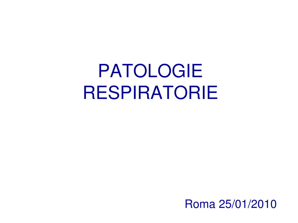 patologie respiratorie l.