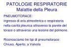 patologie respiratorie malattie della pleura