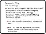 semantic web the technology