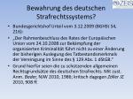 bewahrung des deutschen strafrechtssystems