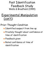 post identification feedback study wells bradfield 199911