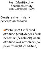 post identification feedback study wells bradfield 199914