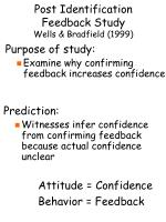 post identification feedback study wells bradfield 19997