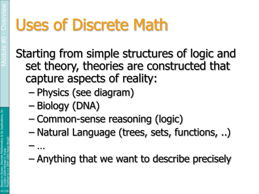 Uses of Discrete Math