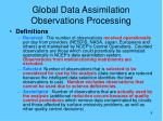 global data assimilation observations processing