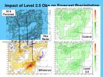 impact of level 2 5 obs on forecast precipitation