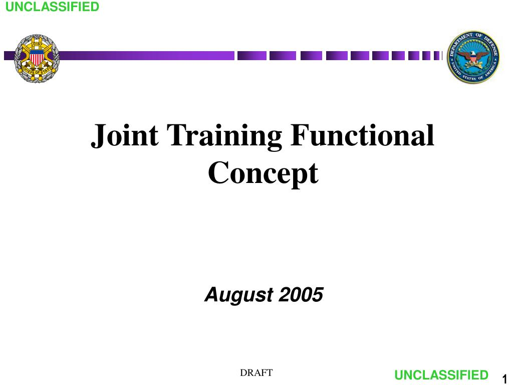 joint training functional concept l.