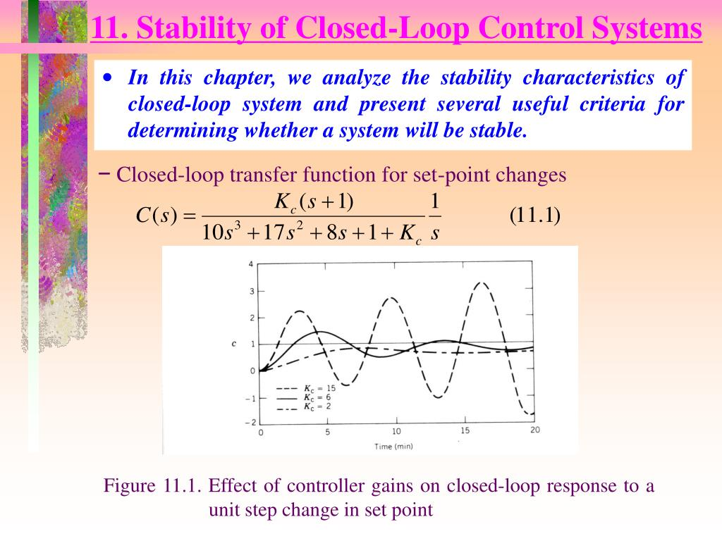 11 stability of closed loop control systems l.