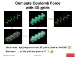 compute coulomb force with 3d grids