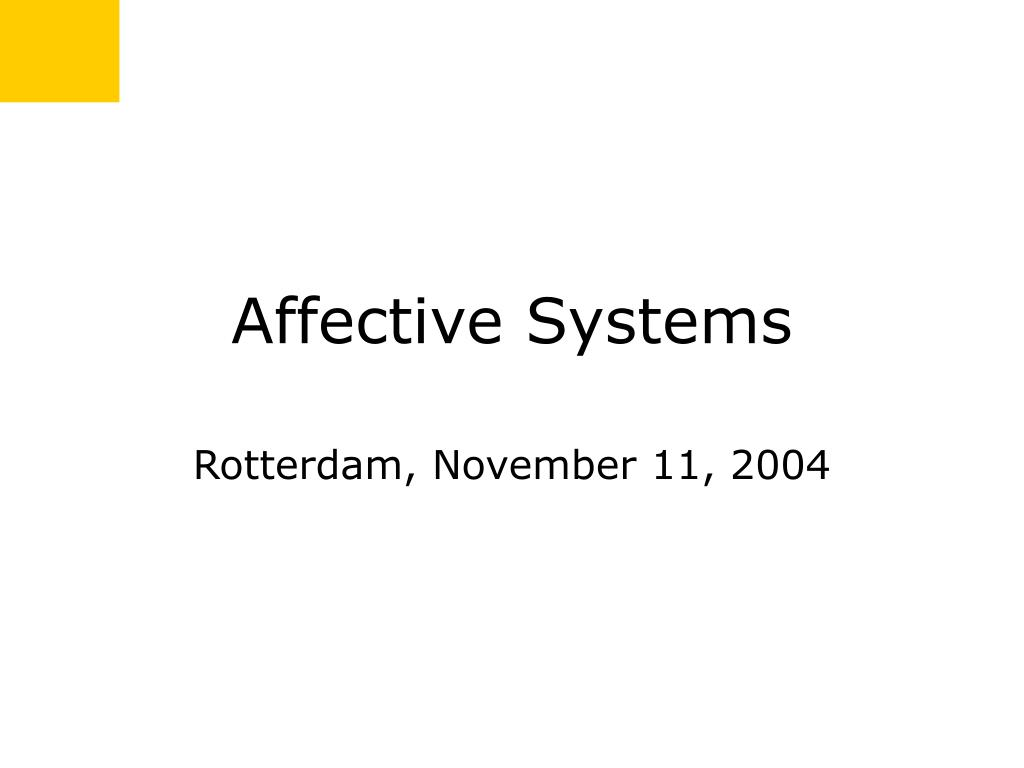 affective systems l.